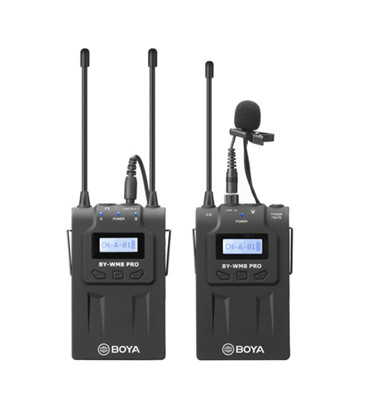 Picture of Boya WM8 Pro-K1 UHF wireless system.